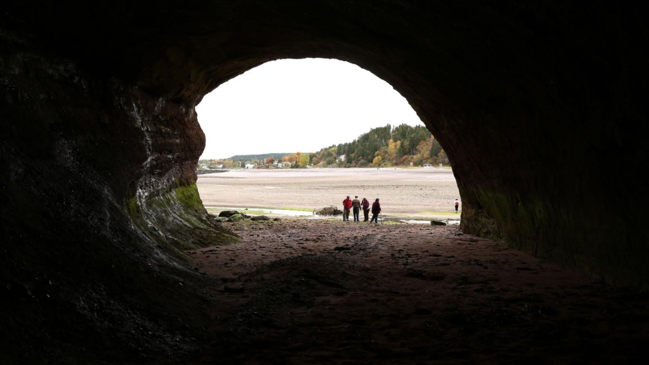 The caves in St. Martins