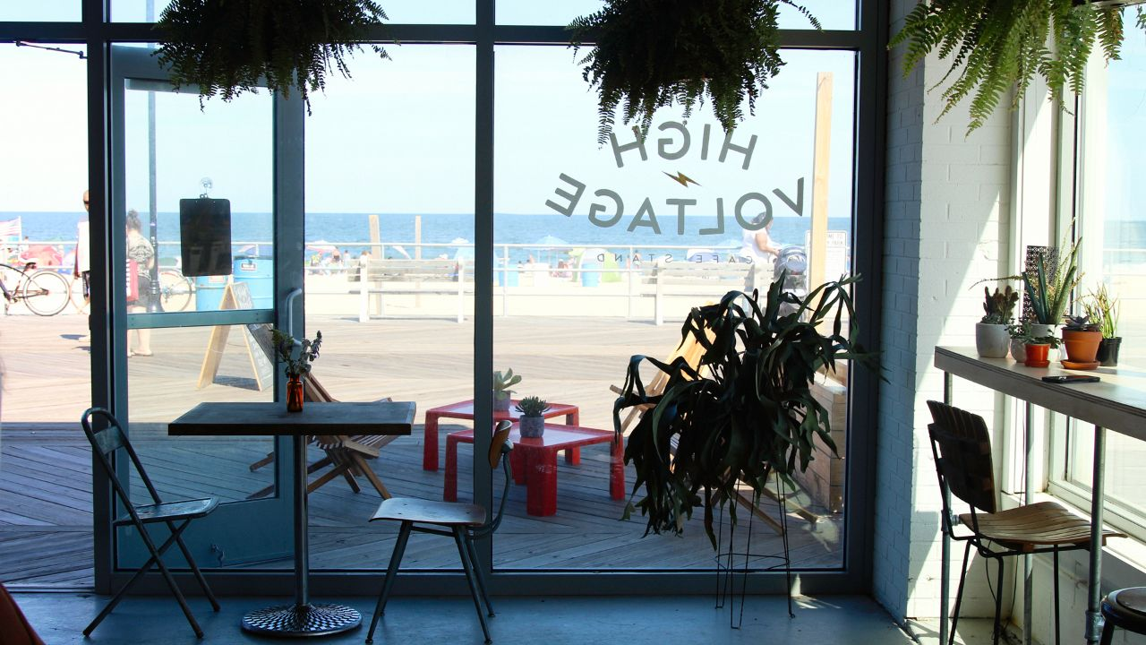 High Voltage is a new coffee shop and vintage store on the Boardwalk.