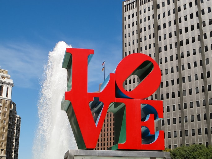 The Love Sculpture in Philadelphia