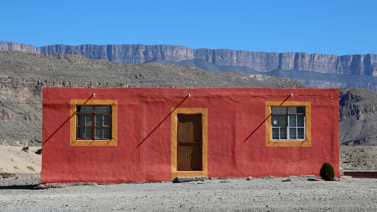 The houses are colorful in Boquillas, Mexico.