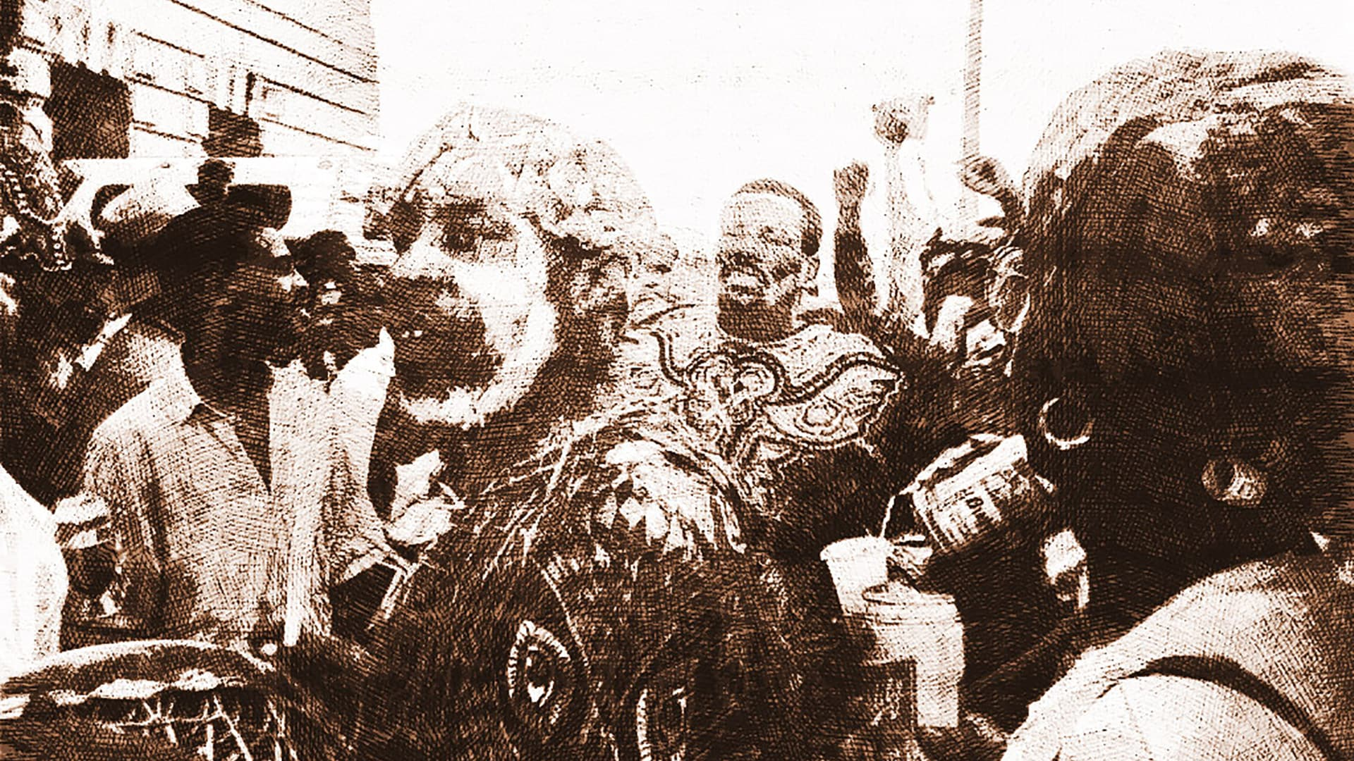 Mardi Gras celebration at Congo Square beside the Municipal Auditorium, 1990s. Image credit: Infrognation