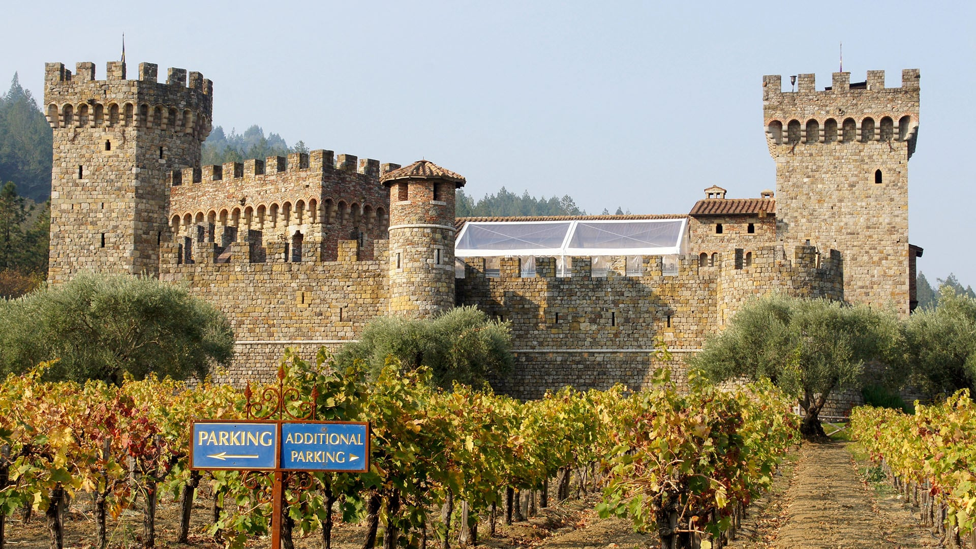 Some 8,000 tons of hand-chiseled local stone and nearly one million imported antique bricks were used to build Castello di Amorosa in Calistoga.