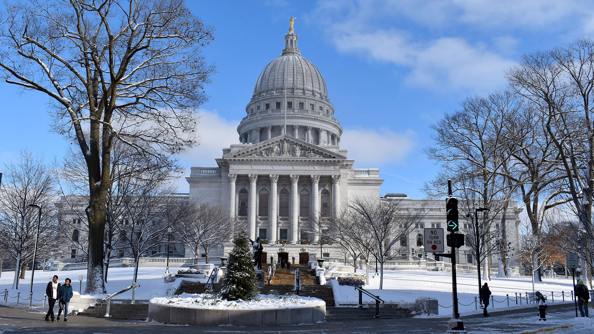 The Wisconsin State Capitol is beautiful in all seasons, though the warm interior is especially inviting in winter.