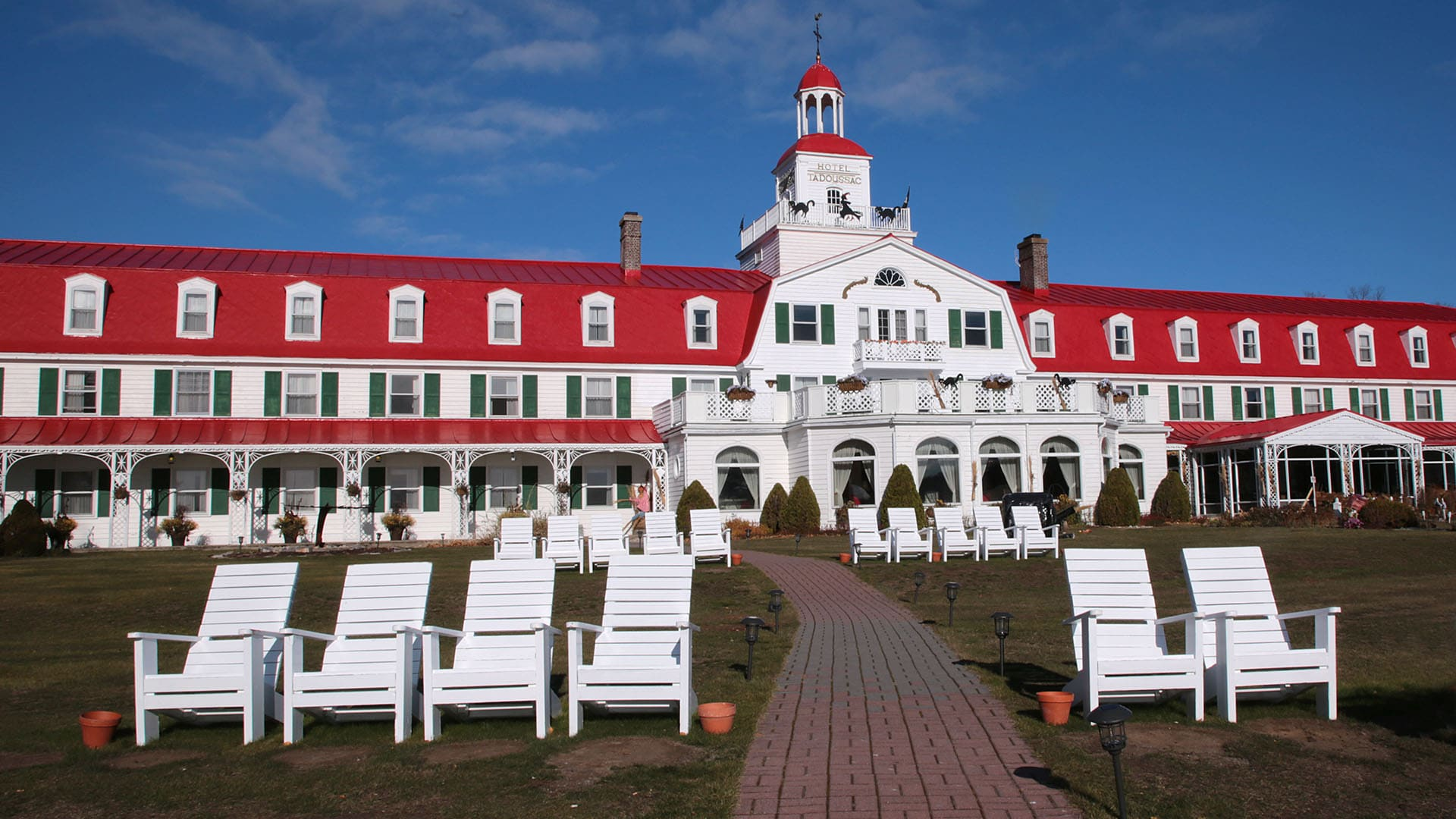 The distinctive Hotel Tadoussac opened in 1864.