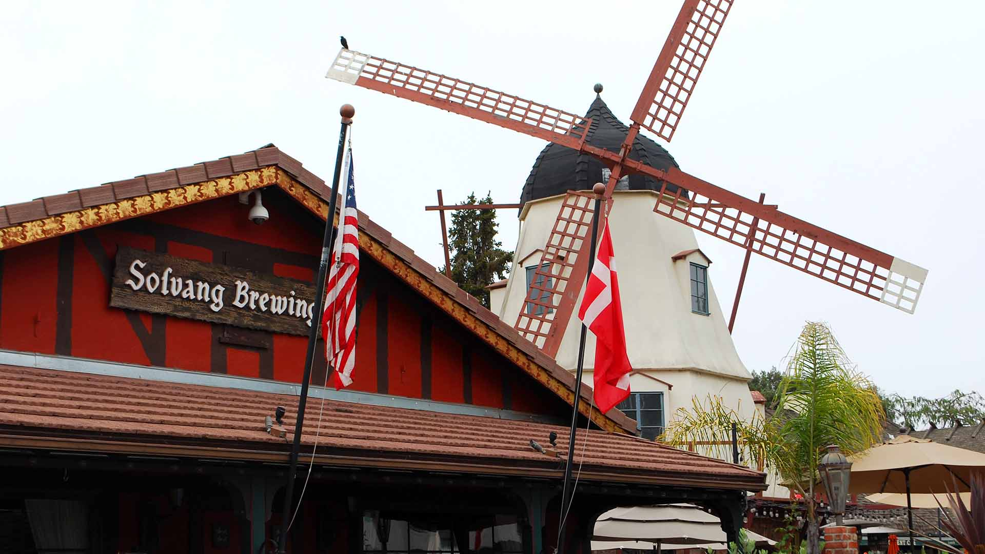The windmill at Solvang Brewing Company is just part of the town's Danish charm.